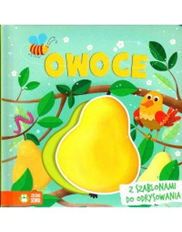 Zielona Sowa - Książki z szablonami. Owoce