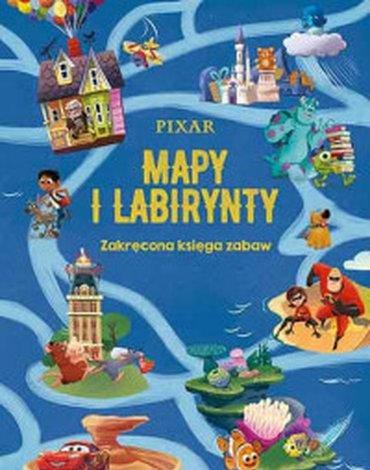 Egmont - Pixar. Mapy i labirynty. Zakręcona księga zabaw