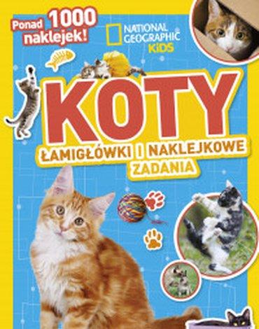 Olesiejuk Sp. z o.o. - National Geographic Kids. Koty. Łamigłówki i naklejkowe zadania