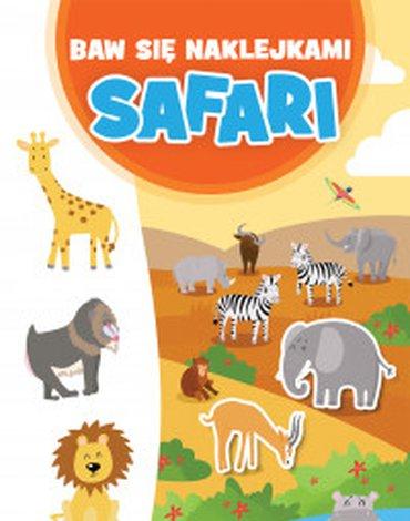 Zielona Sowa - Baw się naklejkami. Safari