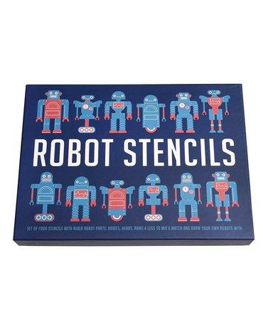 Roboty, szablony do malowania, 4 szt., Rex London