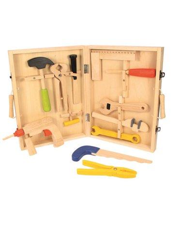Bigjigs - Drewniana skrzynka z narzędziami