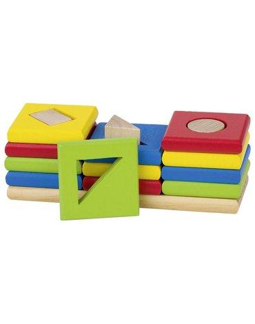 Goki - Układanka edukacyjna - sorter 3 kształty