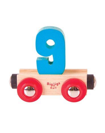 BigjigsRail - Wagonik cyferka 9