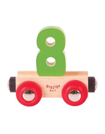 BigjigsRail - Wagonik cyferka 8