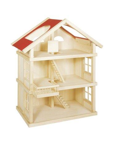 Goki - Drewniany duży domek dla lalek- aż 3 piętra