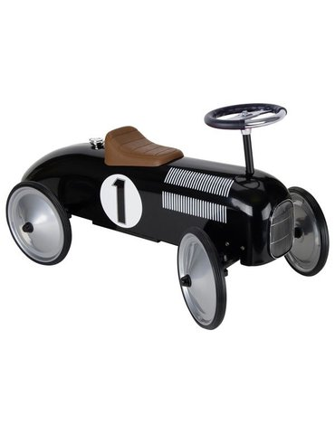 Goki® - Jeździk wyścigowy czarny retro