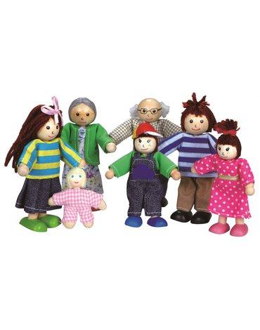 Lelin - Lalki do domku dla lalek - rodzinka
