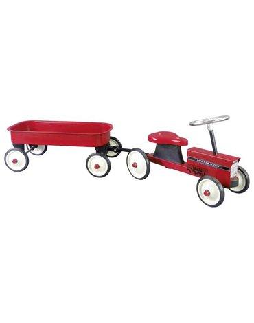 Goki® - Traktor dla dzieci metalowy z przyczepką