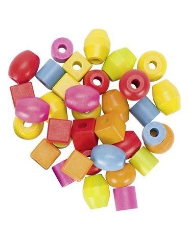 Goki® - Koraliki do nawlekania w słoiku 45 sztuk