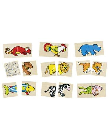 Goki - Memory i puzzle wesołe zwierzaki