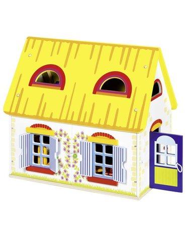 Goki - Wiejski domek dla lalek z mebelkami - rabat 15%