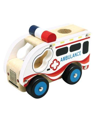 Bino - Autko drewniane - Ambulans