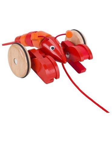 Goki® - Rak do ciągnięcia zabawka na sznurku