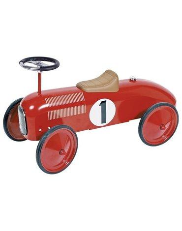 Jeździk czerwona metalowa wyścigówka Goki
