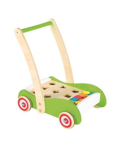 Lelin - Drewniany wózek geometryczny i sorter