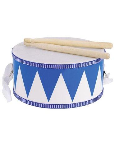 Goki® - Bębenek biało-niebieski dla dzieci