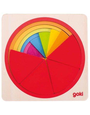 Goki® - Puzzle koło do nauki ułamków