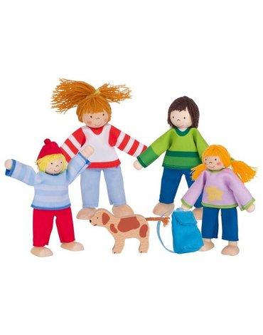 GOKI Rodzinka na wakacjach - drewniane lalki do domku