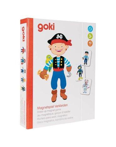 Goki® - Magnetyczna układanka ubierz chłopca