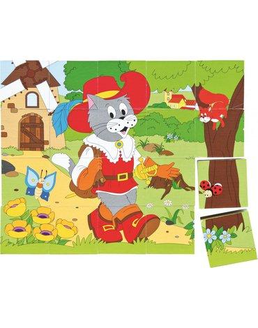 Woody - Klocki sześcienne Bajki - puzzle 20 kostek