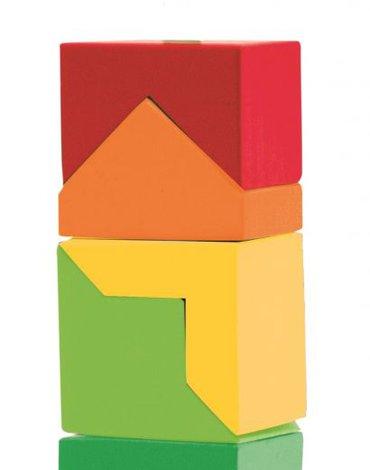 Woody - Kolorowa wieża do układania na paliku