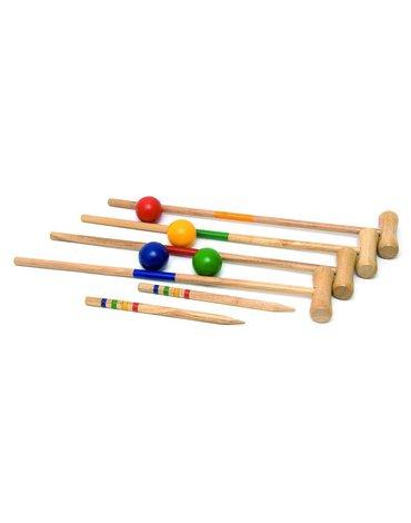Woody - Krokiet gra drewniana 24 elementy - dla dzieci i dorosłych
