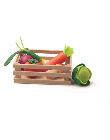 Woody - Drewniane warzywa w skrzynce