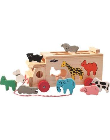 Woody - Ciężarówka - sorter ze zwierzętami