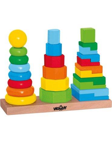 Woody - Układanka geometryczna 3 wieże