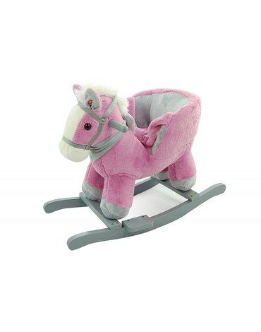 Nefere - Konik różowo-szary z fotelikiem - nowy model