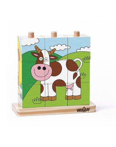 Woody - Klocki sześcienne na palikach farma