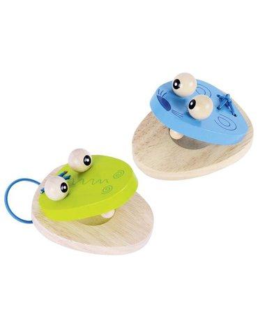 Goki® - Kastaniety drewniane krokodyl i mysz