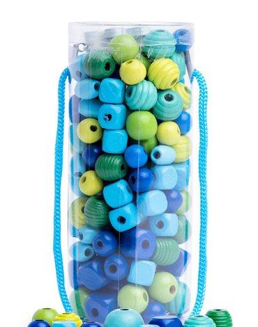 Woody - Koraliki w tubie zielono-niebieskie