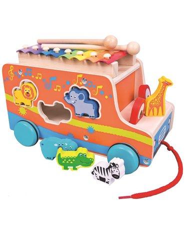 Mertens - Autobus sorter ze zwierzętami i ksylofonem