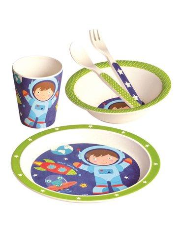 Mertens - Bambus - naczynia dla dzieci astronauta