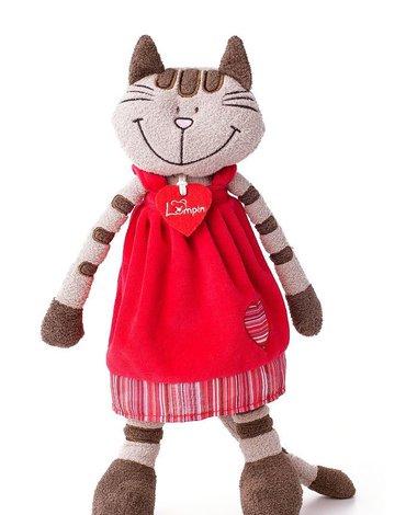 Lumpin - Pluszowa kotka Andżela w czerwonej sukni