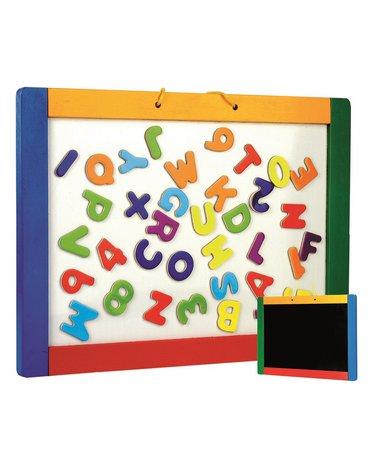 Bino - Dwustronna tablica magnetyczna i kredowa z literkami