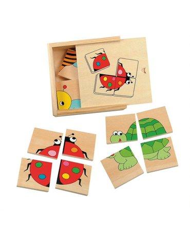 Woody - Puzzle małe zwierzaki - 4 szt.