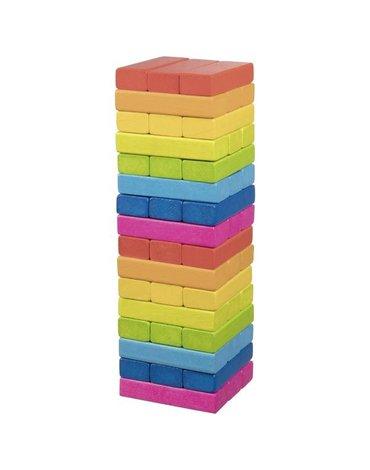 Goki® - Wieża z klocków - kolorowa gra rodzinna