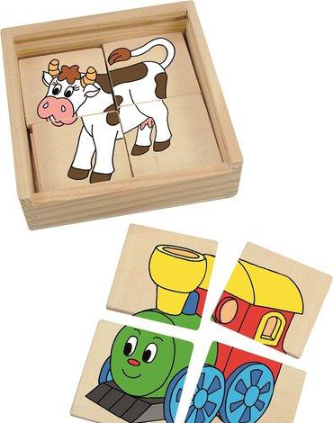 Woody - Mini puzzle 4 szt.