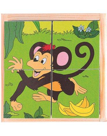 Woody - Puzzle sześcienne kostki Zoo