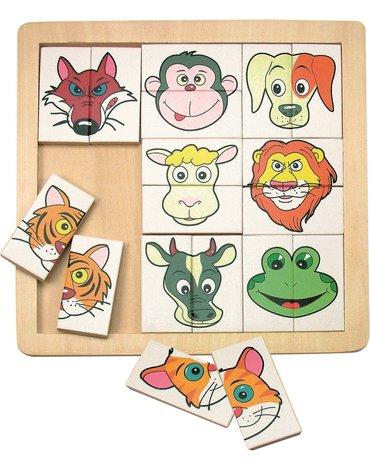 Woody - Puzzle głowy zwierząt