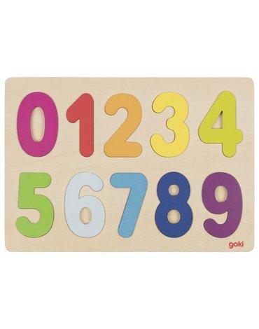 Goki® - Układanka duże cyfry 0-9