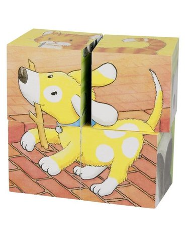 Goki® - Goki puzzle sześcienne małe zwierzaki