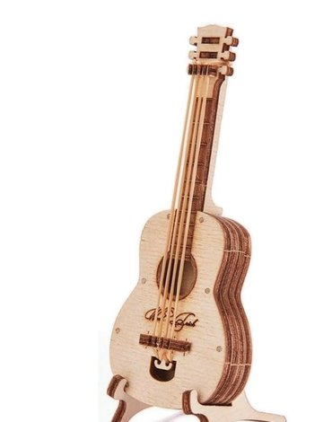 Wood Trick - WoodTrick Puzzle mechaniczne gitara