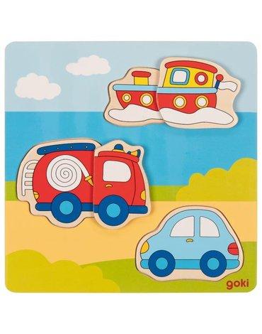 Goki® - Puzzle 3D pojazdy