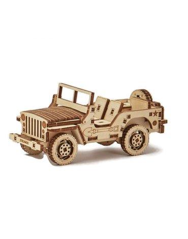 Wood Trick - Drewniane puzzle 3D Jeep