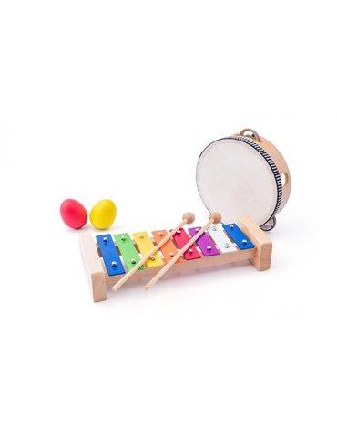 Woody - Zestaw Muzyczny 8 elementów - instrumenty dla dziecka