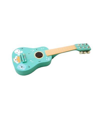 AdamToys - Gitara drewniana zwierzaki